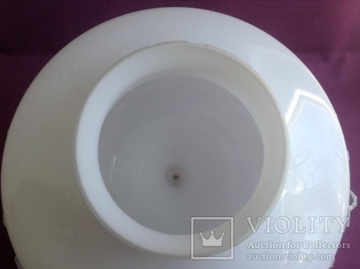 Плафон Султан. Двойное белое молочное стекло., фото №4