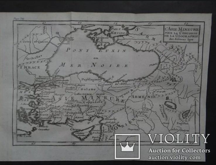 1785 год Карта Крым, Черное море Армения Бумага Верже