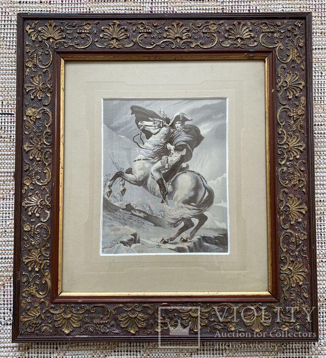 Старинная гравюра в родной раме(Наполеон Бонапарт)