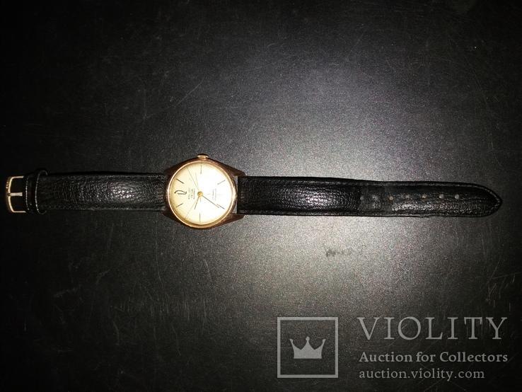 Золотые часы poljot de luxe 29 jewels shockproof 583 проба., фото №4