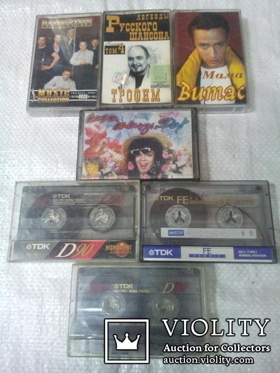 Аудиокассеты с записями TDK (7шт.), фото №2