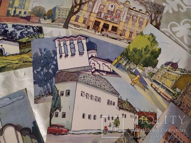 Набор открыток Псков 1971, фото №7