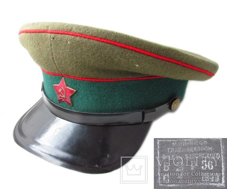 Суконная фуражка медицинской службы адм. хозяйственные части АХЧ лопата 1949 года.