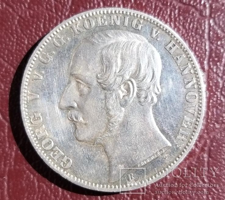 Талер 1865 года Ганновер .50 лет Битве при Ватерлоо