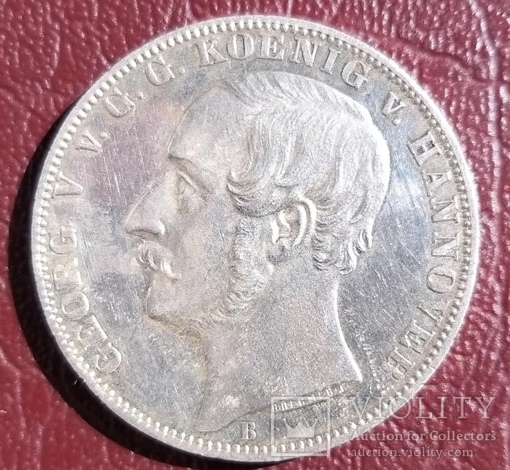 Талер 1865 года Ганновер .50 лет Битве при Ватерлоо, фото №3