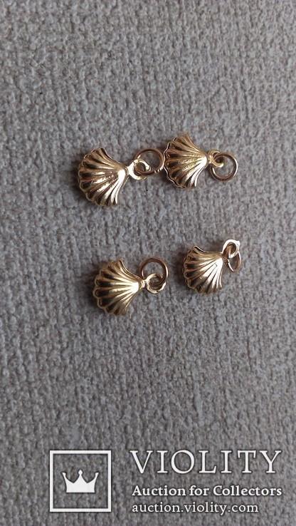Золотые подвески от браслета., фото №4
