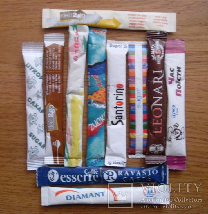Пакетики з цукром-11 шт.