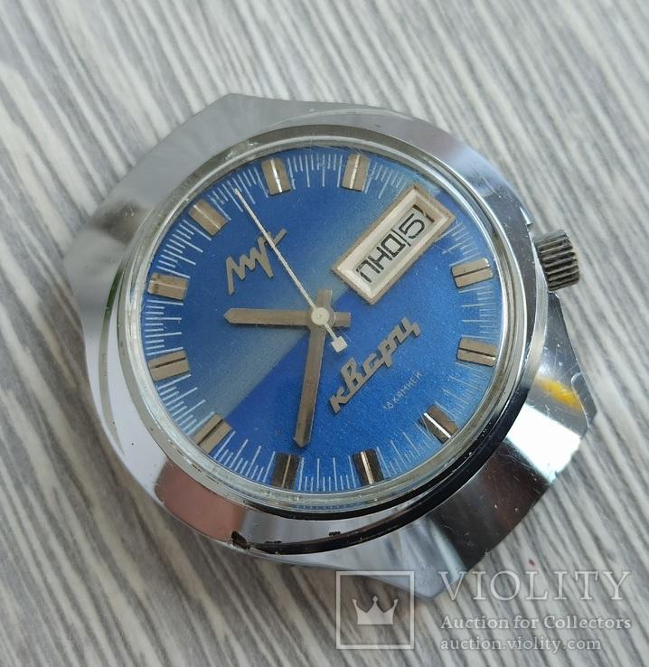 Часы. Луч / электронно-механические / синие, фото №4