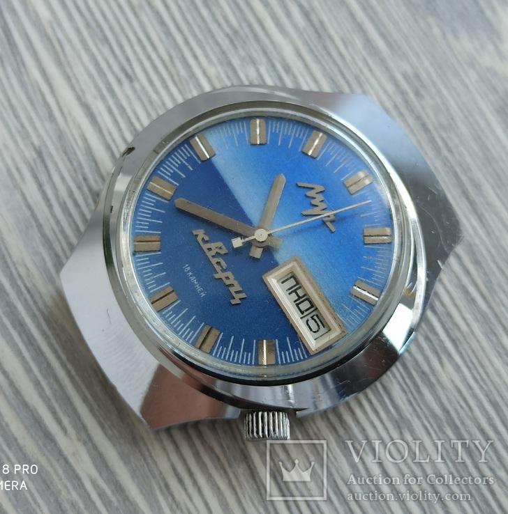 Часы. Луч / электронно-механические / синие, фото №7