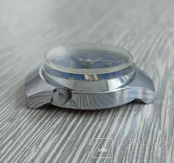 Часы. Луч / электронно-механические / синие, фото №8