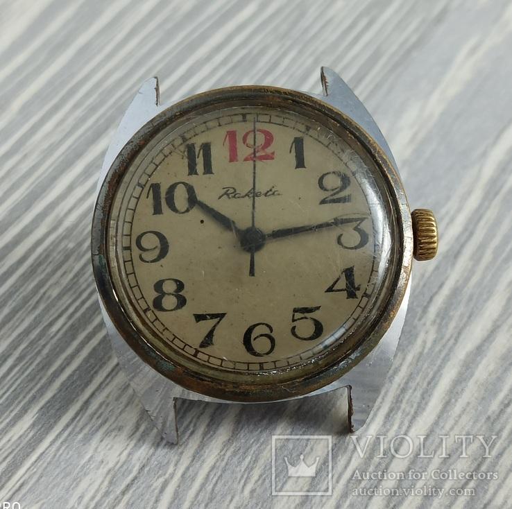 Часы. Ракета / 12 красная - на ходу, фото №2
