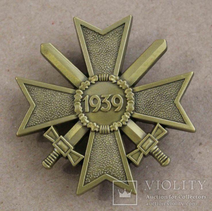 Рыцарский крест КВК 1-го класса смечами. Клеймо 1 (копия), фото №2