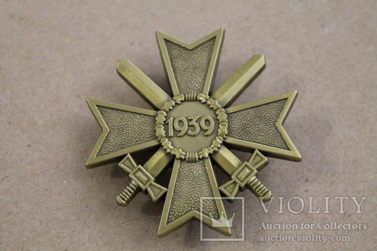 Рыцарский крест КВК 1-го класса смечами. Клеймо 1 (копия), фото №3