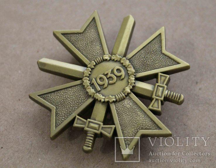 Рыцарский крест КВК 1-го класса смечами. Клеймо 1 (копия), фото №4