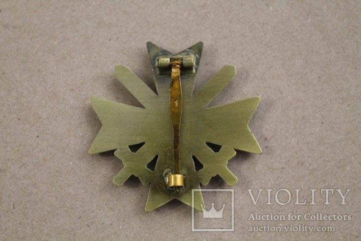 Рыцарский крест КВК 1-го класса смечами. Клеймо 1 (копия), фото №6
