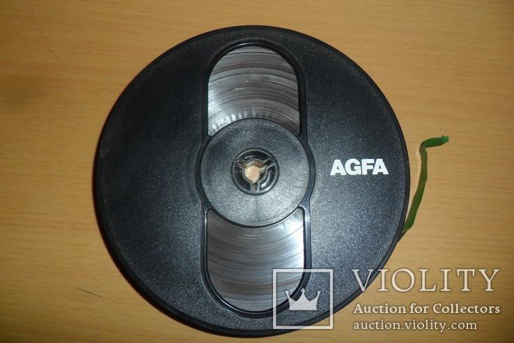Бобина бабина катушка Agfa диаметр 12,5 см пленка магнитная лента, фото №3