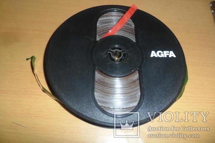 Бобина бабина катушка Agfa диаметр 12,5 см пленка магнитная лента, фото №4