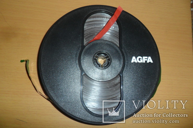 Бобина бабина катушка Agfa диаметр 12,5 см пленка магнитная лента, фото №5