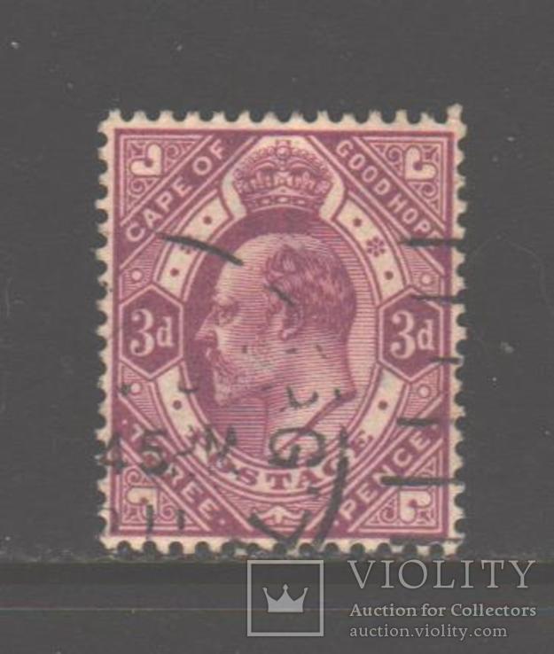 Брит. Капская колония. 1902. Эдуард VII, 3 п., гаш.