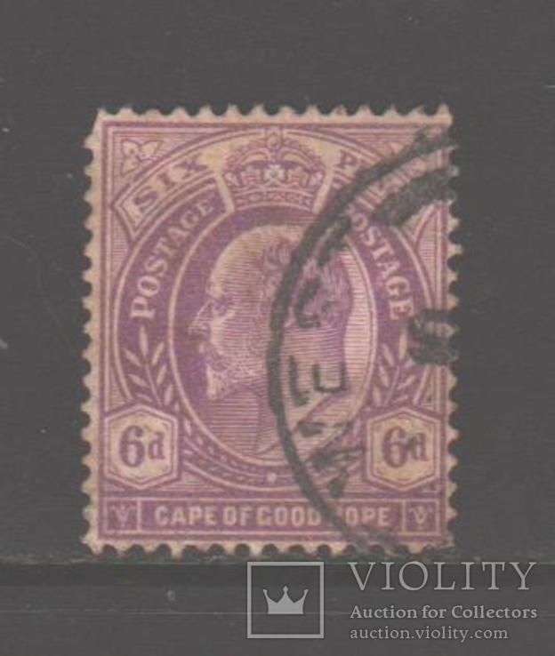 Брит. Капская колония. 1902. Эдуард VII, 6 п., гаш.