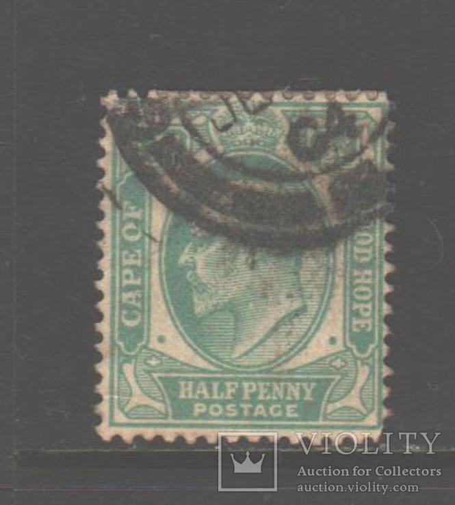 Брит. Капская колония. 1902. Эдуард VII, 1/2 п., гаш.