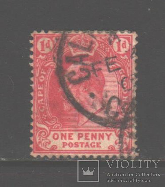 Брит. Капская колония. 1902. Эдуард VII, 1 п., гаш.
