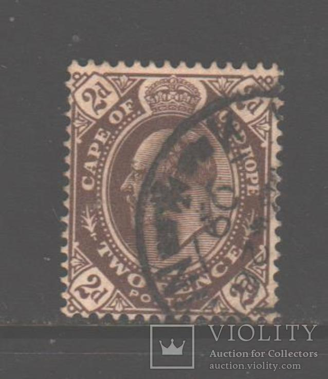Брит. Капская колония. 1902. Эдуард VII, 2 п., гаш.