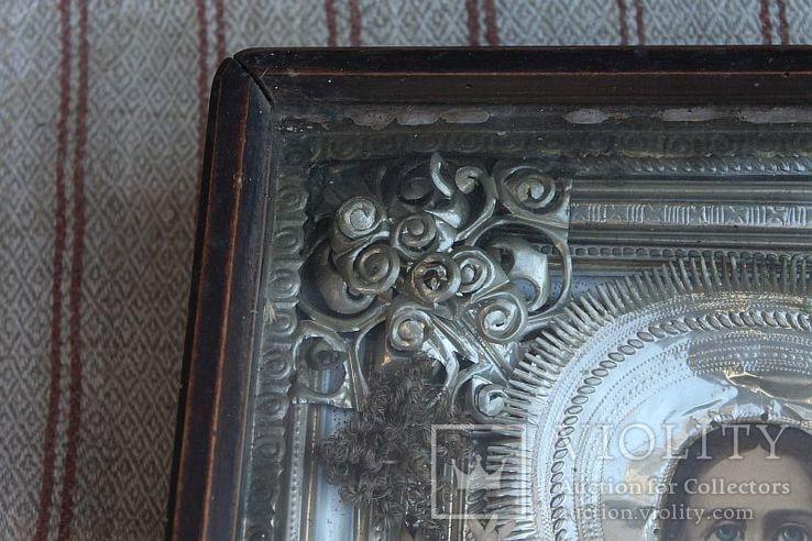 Старинная икона под стеклом (34х30 см), фото №5