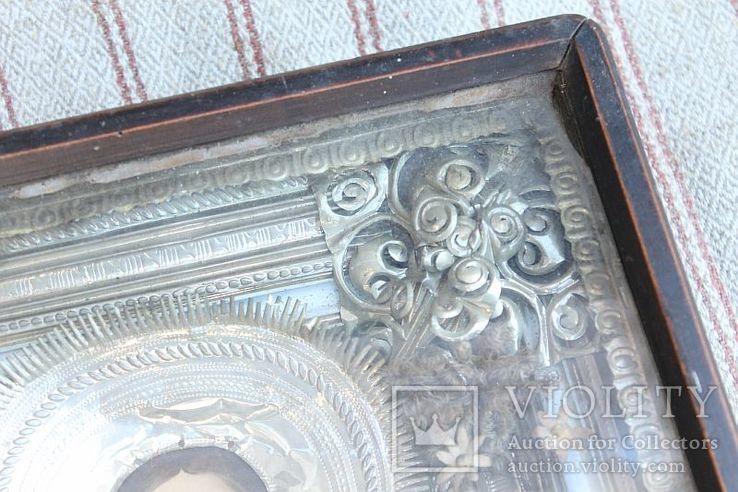 Старинная икона под стеклом (34х30 см), фото №6