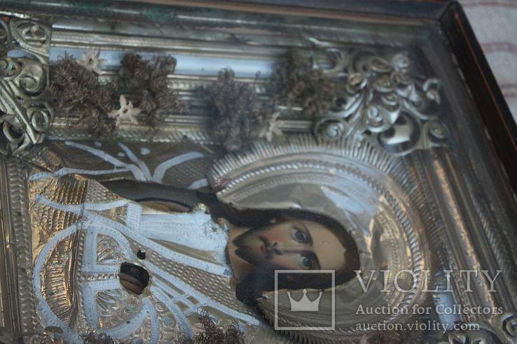 Старинная икона под стеклом (34х30 см), фото №10