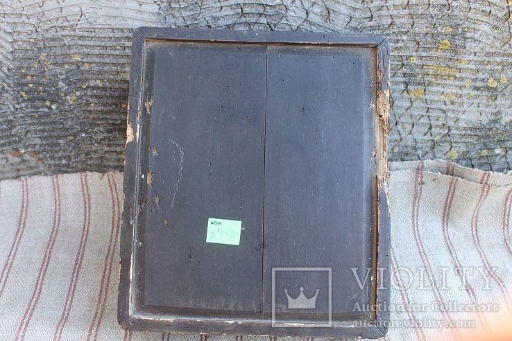 Старинная икона под стеклом (34х30 см), фото №12