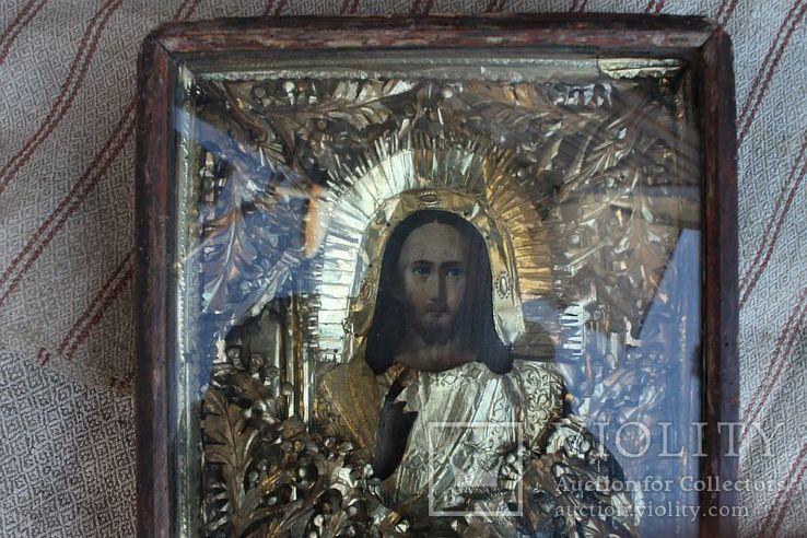 Старинная икона под стеклом (32х36 см), фото №3