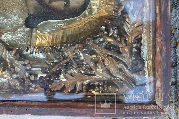 Старинная икона под стеклом (32х36 см), фото №7