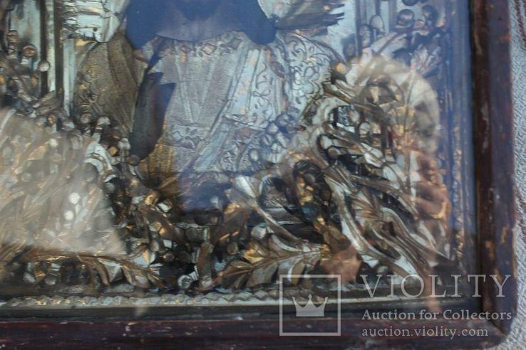 Старинная икона под стеклом (32х36 см), фото №8