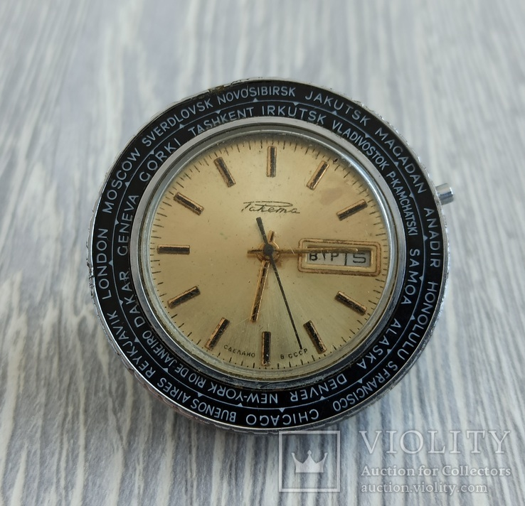 Часы. Ракета / Города / мех. 2628 Н (02), фото №2