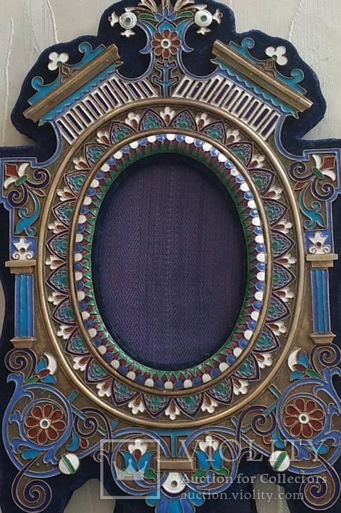 Фоторамка. Серебро, разноцветные эмали., фото №3