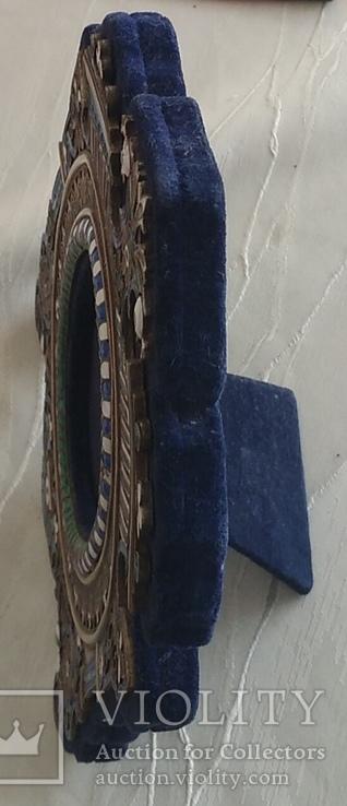 Фоторамка. Серебро, разноцветные эмали., фото №7
