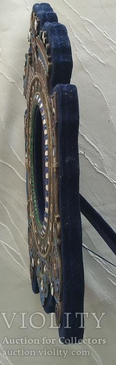 Фоторамка. Серебро, разноцветные эмали., фото №8
