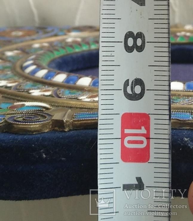Фоторамка. Серебро, разноцветные эмали., фото №9