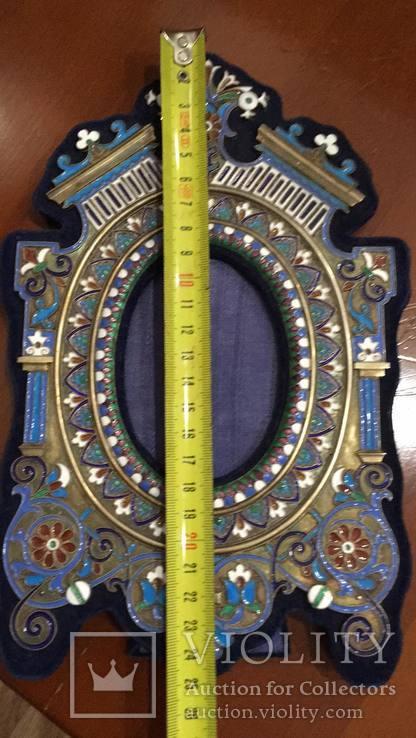 Фоторамка. Серебро, разноцветные эмали., фото №12