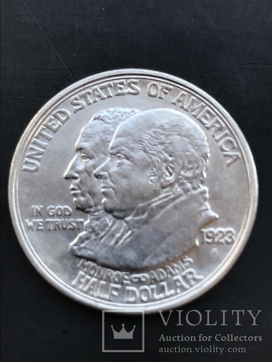 50 центов США 1923 Доктрина Монро серебро
