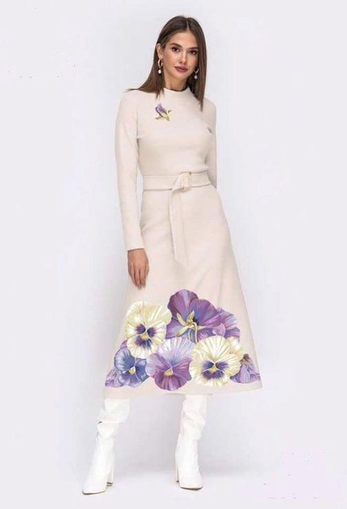 Платье вышитое женское - Цветы