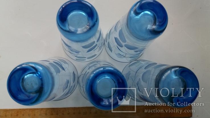 Стаканы СССР синее стекло, фото №5