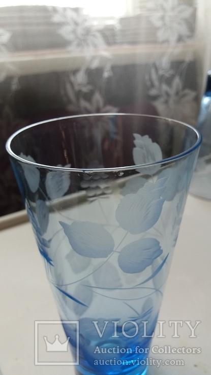 Стаканы СССР синее стекло, фото №7