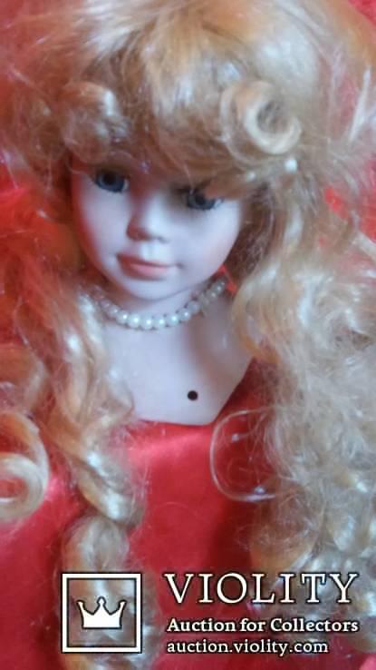 фарфоровая голова, от куклы с париком., фото №4