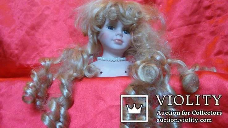 фарфоровая голова, от куклы с париком., фото №8