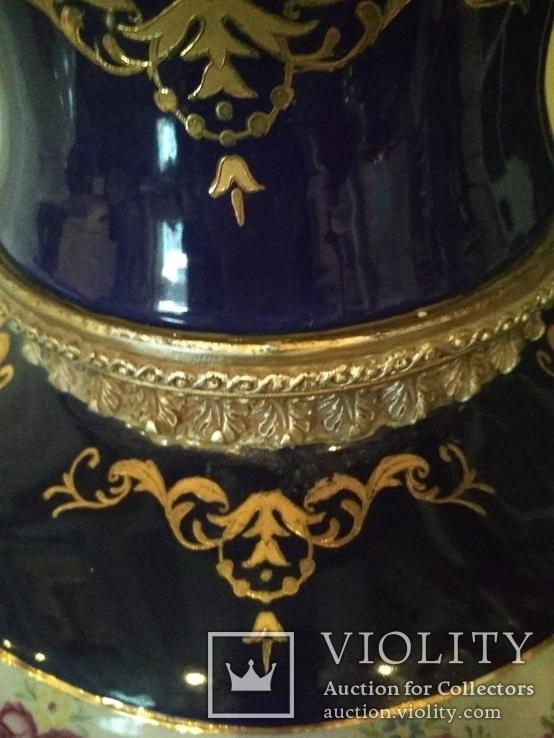 Ваза большая Роскошная фарфор шпиатр 81 см, фото №5