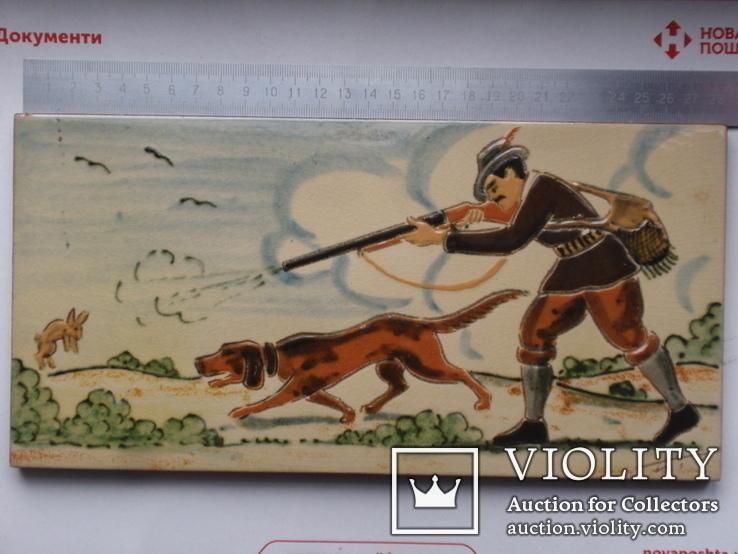 Сюжетная плитка кон. XIX нач. XX века. Австро-Венгрия или Германия. Майолика, фото №2