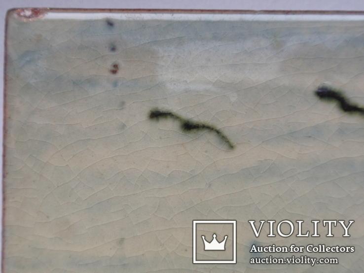 Сюжетная плитка кон. XIX нач. XX века. Австро-Венгрия или Германия. Майолика, фото №8
