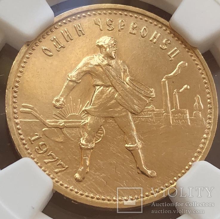 Сеятель/ червонец 1977 год (ММД) МS-68 СССР золото 8,6 грамм 900', фото №4
